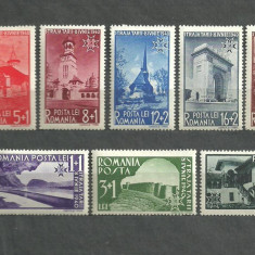Romania 1940 - STRAJA TARII, VEDERI, serie NESTAMPILATA cu SARNIERA , R14