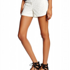 Pantaloni scurti din bumbac, model ajurat - Vero Moda - art. 10154044 white - Pantaloni dama Vero Moda, Marime: XS, S, M, Culoare: Alb
