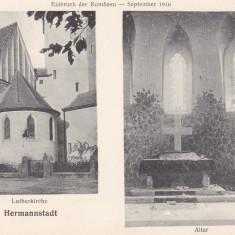 SIBIU, SEPTEMBRIE 1916 - Carte Postala Transilvania 1904-1918, Necirculata, Printata