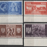 1941 Fratia de arme romano-germana , MNH , LP 146 I /Mi. 706-709, Nestampilat