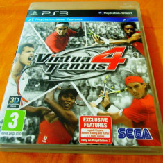 Joc Virtua Tennis 4, PS3, original! Alte sute de jocuri! - Jocuri PS3 Altele, Sporturi, 3+, Multiplayer