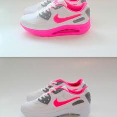 Adidasi Nike Air MAx - Adidasi dama Nike, Culoare: Alb, Roz, Marime: 35, 37, 39