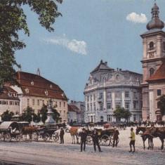 SIBIU, GROSSER RING, CIRCULATA APR.*913 - Carte Postala Transilvania 1904-1918, Printata