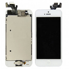LCD ECRAN TOUCHSCREEN PENTRU IPHONE 5 ALB SI NEGRU - Display LCD Apple, iPhone 5/5S