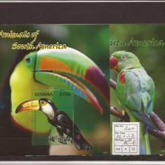 Guyana - fauna - 2014 - Timbre straine, Natura, Nestampilat