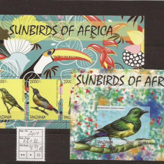 Tanzania - sunbirds of Africa - Timbre straine, An: 2014, Natura, Nestampilat