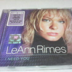 CD LEANN RIMES - I NEED YOU ORIGINAL - Muzica Country