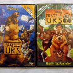FRATELE URS 1+2 (BROTHER BEAR 1+2) [2003+2006] (DISNEY ORIGINALE, SIGILATE, RO) - Film animatie, DVD, Romana