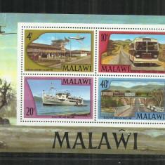 V 14 - VAPOARE - MALAWI - BLOC NESTAMPILAT - Timbre straine