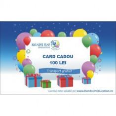 Card Cadou 100 Ron - Hands On Education - Set rechizite