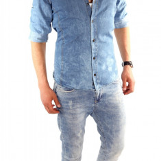 Camasa de blugi tip ZARA fashion - camasa barbati - CALITATE GARANTATA cod: 6307, Marime: M, Culoare: Din imagine, Maneca lunga