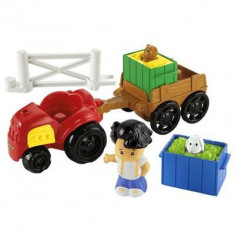 Jucarie Fisher Price Little People Farm Tractor And Trailer - Vehicul