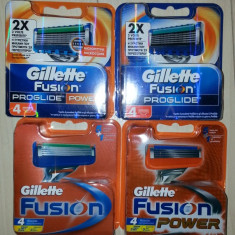 Rezerve Gillette Fusion, Fusion power, Proglide, Proglide Power set 4 buc