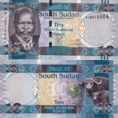 SUDANUL DE SUD 10 pounds 2011 UNC!!! - bancnota africa
