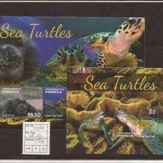 Dominica - sea turtles - 2014 seria, Natura, Nestampilat