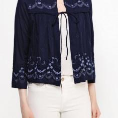 Cardigan brodat din bumbac - Vero Moda - art. 10153757 bleumarin - Sacou dama Vero Moda, Marime: 36, Culoare: Albastru