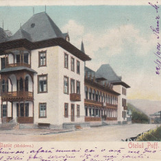 SALUTARI DIN SLANIC MOLDOVA, OTELUL PUFF, CLASICA, CIRCULATA AUG. 1904 - Carte Postala Moldova pana la 1904, Printata