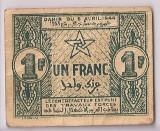 MAROC 1 FRANC 1944 VF