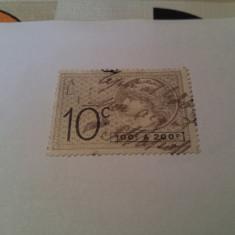 Franta/ timbru fiscal vechi / 10c, Stampilat