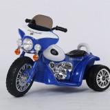 Motocicleta electrica 568 albastru