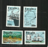 V 58 -  VAPOARE -   TUVALU  -  SERIE    NESTAMPILATA, Nestampilat