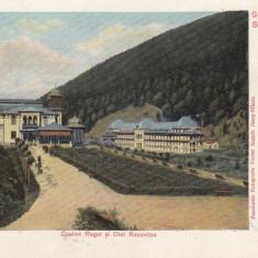 SALUTARI DIN SLANIC MOLDOVA, CASINO REGAL SI OTEL RACOVITZA, CIRC. IAN.''905 - Carte Postala Moldova pana la 1904, Circulata, Printata