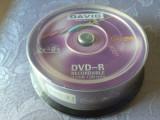 Set 25 PACK DVD - R marca Davio, 4,7 GB, 8 x max speed / 120 min,NOU SIGILAT