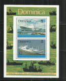 V  38 -  VAPOARE -  DOMINICA   -   BLOC    NESTAMPILAT