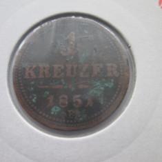 Austria 1 kreuzer 1851(B), Europa, Bronz