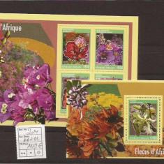 Togo - Flori de Africa - 2014 seria - Timbre straine, Natura, Nestampilat