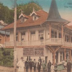 SLANIC MOLDOVA, VILA FLORICA SATU NOU, RECLAME, ANIMATA, CIRCULATA - Carte Postala Moldova 1904-1918, Tip: Printata