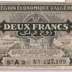 ALGERIA 2 FRANCS FRANCI 1949 VF - bancnota africa