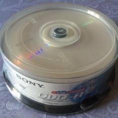 Set 25 PACK DVD - R marca Sony, 4, 7 GB, 16 x max speed / 120 min, NOU SIGILAT