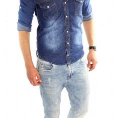Camasa de blugi tip ZARA fashion - camasa barbati - CALITATE GARANTATA cod: 6308, Marime: XL, XXL, Culoare: Din imagine, Maneca lunga