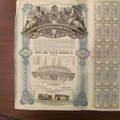 GE - Actiune nominativa 500 lei Societatea Comunala Tramvaielor Bucuresti 1945/4, Romania 1900 - 1950