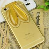 Husa silicon Urechiuse iPhone 6 / 6s - Husa Telefon Apple, Galben