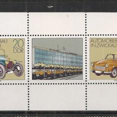D.D.R.1979 Uzina de Automobile Zwickau-coala mica CD.1131 - Timbre straine, Nestampilat