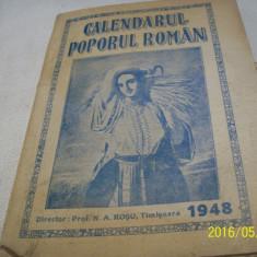 Calendarul poporul roman- 1948- nicolae a. rosu - Calendar colectie