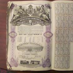 GE - 20 actiuni 10000 lei total Societatea Comunala a Tramvaielor Bucuresti 1945, Romania 1900 - 1950