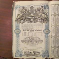GE - Actiune nominativa 500 lei Societatea Comunala Tramvaielor Bucuresti 1945/2