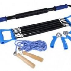 Set fitness cu extensor, flexor, coarda si baston extensibil - Extensor Fitness