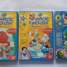 MAGIC ENGLISH, LOT VOLUME 5, 8, 11 - Film animatie disney pictures, DVD, Romana