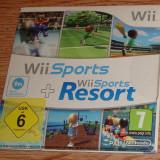 Wii Sports Resort si Wii Sports 2in1 ORIGINAL Nintendo Wii si Wii U PAL(EUR) - Jocuri WII, Simulatoare, Toate varstele, Multiplayer