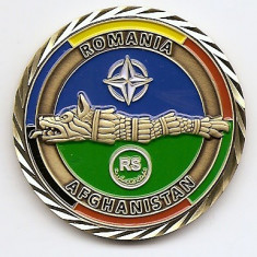 Medalie Romania Afghanistan RS 2015-2016- 44 mm (MC-67) - Medalii Romania