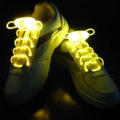 Sireturi pentru pantofi luminescente cu led, albastre, rosii, galbene, Marime: Alta, Culoare: Albastru, Rosu