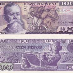 MEXIC 100 pesos 3 septembrie 1981 - serie TZ UNC!!! - bancnota america
