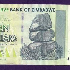 ZIMBABWE 10 DOLARI DOLLARS 2007 [18] P-67, VF - bancnota africa
