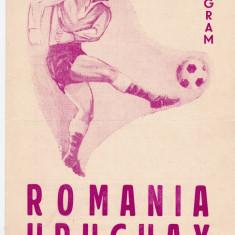 Program meci fotbal ROMANIA - URUGUAY 19.06.1966