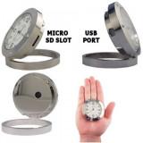 Ceas spion metalic cu camera video si microfon
