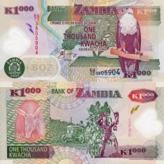 ZAMBIA 1.000 kwacha 2006 polymer UNC!!! - bancnota africa